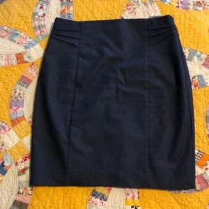 Navy pin stripe skirt